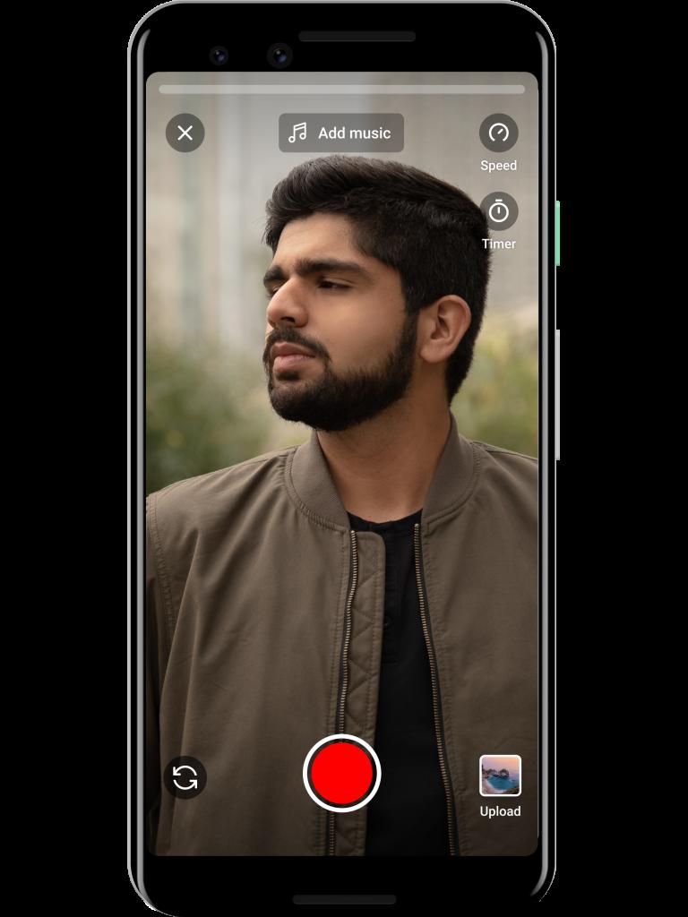Schermo del cellulare che mostra l'applicazione Youtube Short